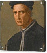 Portrait Of Piero Soderini Half Length Wearing A Black Coat And A Black Hat Acrylic Print