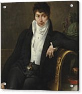 Portrait Of Pierre-jean-george Cabanis Acrylic Print