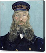 Portrait Of Postman Roulin Acrylic Print by Vincent van Gogh