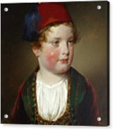 Portrait Of Prince Victor Odescalchi  In Greek Costume At The Age Of Five Acrylic Print