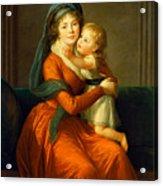 Portrait Of Princess Alexandra Golitsyna And Her Son Piotr Acrylic Print