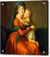 Portrait Of Princess Alexandra Golitsyna And Her Son Piotr Acrylic Print