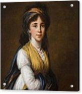 Portrait Of Princess Belozersky Lisabeth Louise Vige Le Brun Acrylic Print