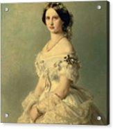 Portrait Of Princess Of Baden Acrylic Print by Franz Xaver Winterhalter