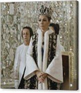 Portrait Of Queen Farah Pahlavi Dressed Acrylic Print