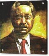 Portrait Of Rev. Leon Sullivan Acrylic Print