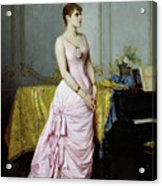 Portrait Of Rose Caron Acrylic Print