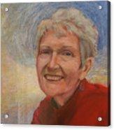 Portrait Of Ruth Sentelle Acrylic Print