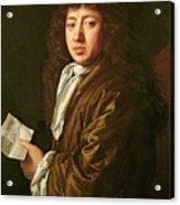 Portrait Of Samuel Pepys Acrylic Print by John Hayls