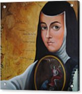 Portrait Of Sor Juana Ines De La Cruz Acrylic Print