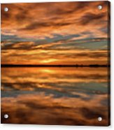 Portrait Of Sunrise Reflections On The Great Plains Acrylic Print
