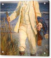 Portrait Of The Danish Painter Peder Severin Kroyer Acrylic Print