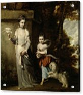 Portrait Of The Ladies Amabel And Mary Jemima Yorke Acrylic Print
