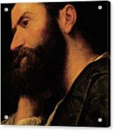 Portrait Of The Poet Pietro Aretino Acrylic Print