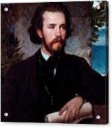 Portrait Of The Singer Karl Wallenreiter Acrylic Print