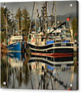 Portrait Of The Ucluelet Trawlers Acrylic Print