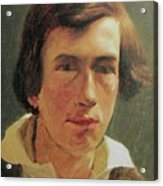 portrait of the young Arnold Bocklin Acrylic Print