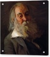Portrait Of Walt Whitman 1887 Acrylic Print