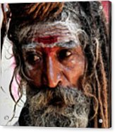 Portrait On The Ganges Acrylic Print
