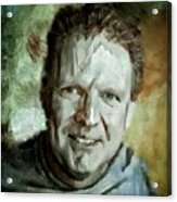 Portrait Painting Cinematographer Camera Operator Behind The Scenes Movie Tv Show Film Chicago Med Acrylic Print