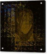 Portrait Reflection From Fresnel Prisms Acrylic Print