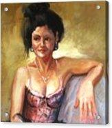 Portrait Sample Acrylic Print by Podi Lawrence