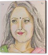 Portrait With Colorpencils 2 Acrylic Print