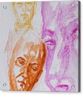 Portraits In 3b Acrylic Print