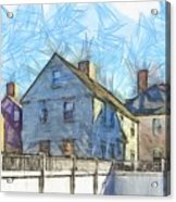 Portsmouth New Hampshire Pencil Acrylic Print
