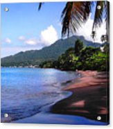 Portsmouth Shore On Dominica Filtered Acrylic Print
