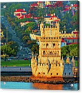 Lisbon Belem Tower From The River Acrylic Print