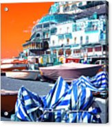 Positano Beach Pop Art Acrylic Print