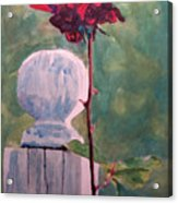 Post And The Rose Acrylic Print