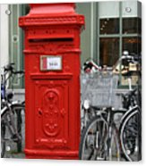 Post Box In Bruge Acrylic Print