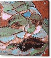 Post Carnival Blues Tile Acrylic Print