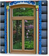 Post Dacha Window Acrylic Print