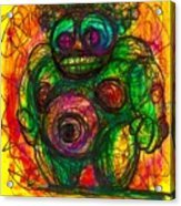 Post Modern Venus Of Willendorf  She's Mad As Hell Guys  Rightfully So Acrylic Print