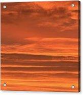 Post Sunset Clouds Acrylic Print