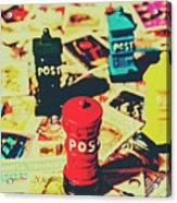 Postage Pop Art Acrylic Print