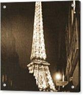 Postcard From Paris- Art By Linda Woods Acrylic Print