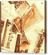 Postcards And Letters From The City Of Love Acrylic Print