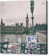 Postcards From Westminster Acrylic Print