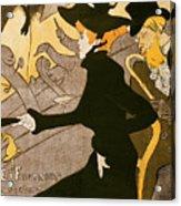 Poster Advertising Le Divan Japonais Acrylic Print by Henri de Toulouse Lautrec