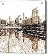 Poster-city 4 Acrylic Print