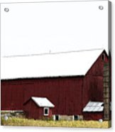 Poster Look American Red Barn With Silos I Niles Michigan Usa Acrylic Print