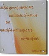 Poster Series - 15 Acrylic Print