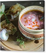 Pot Of Ukrainian Borsch Acrylic Print