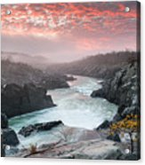 Potomac River At Great Falls Sunrise Landscape Acrylic Print