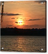 Potomac River Sunset In March Acrylic Print