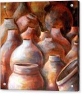 Pots In Morocco Acrylic Print